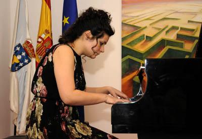 """A Delegación da Xunta de Galicia en Madrid acolleu o concerto """"a herdanza contrapuntísticaca"""" da pianista lucense Susana Trigo"""