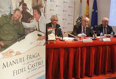 """Presentado na Casa o libro """"Manuel Fraga un gallego cubano, Fidel Castro un cubano gallego"""", de Miguel Ángel Alvelo Céspedes"""