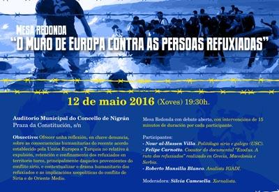 NDEA_Cartaz Mesa Redonda Europa Refuxiados IGADI Concello de Nigrán (1)