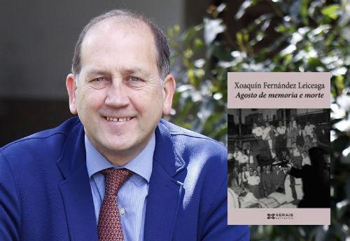 Faladoiro con Xoaquín Fernández Leiceaga na libraría Libraida