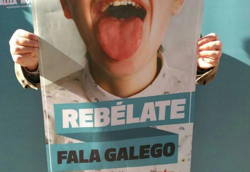 """""""Rebélate, fala galego"""", nova campaña de Galiza Nova"""