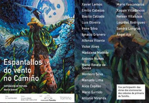 """Unha vintena de artistas luso galaicos renden tributo á figura do """"espantallo"""" en Tomiño"""