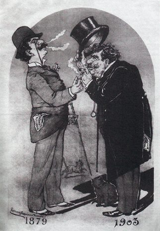 Bordallo Pinheiro - autocaricatura (1903)