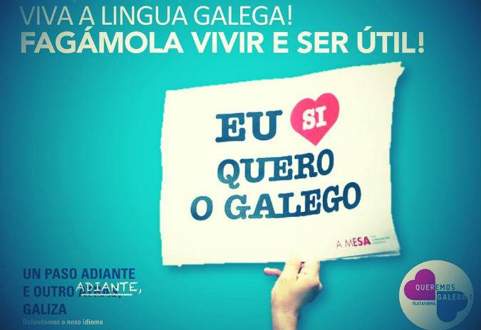 """""""Queremos Galego"""" convoca unha manifestación a favor da nosa lingua"""
