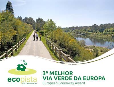 Ecopista do río Minho distinguida como 3ª melhor vía verde da Europa