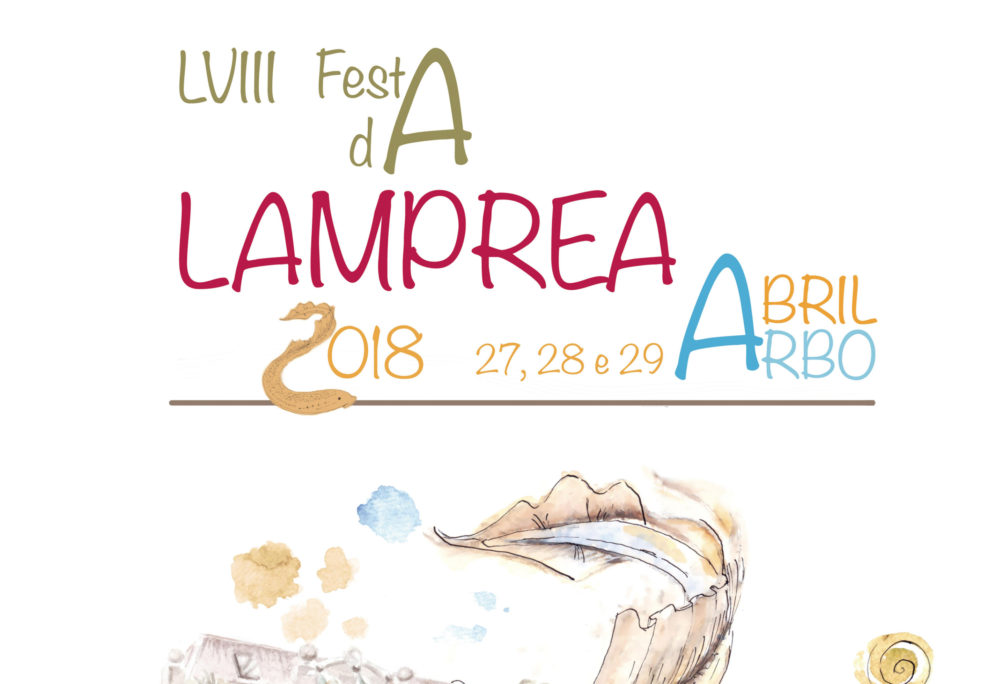 Arbo xa ten o cartaz da LVIII Festa da Lamprea