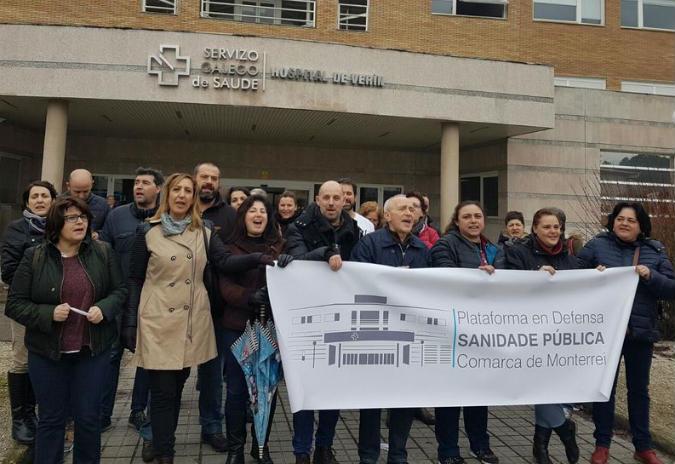 En Marea denuncia o mal servizo do hospital de Verín pola falta de persoal