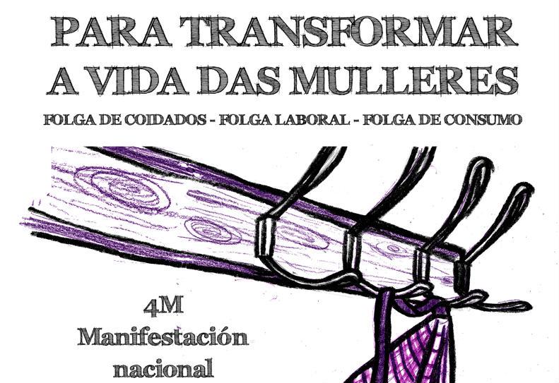 Vigo acollerá a manifestación nacional do Día das Mulleres o vindeiro domingo 4 de marzo