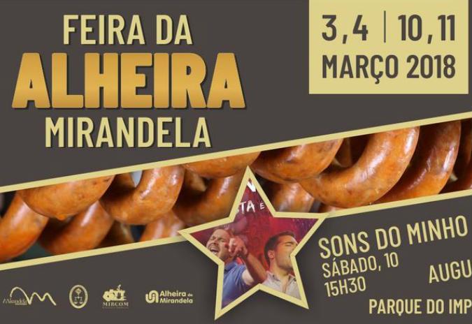 Feira da Alheira de Mirandela – dias 3, 4, 10 e 11 de março