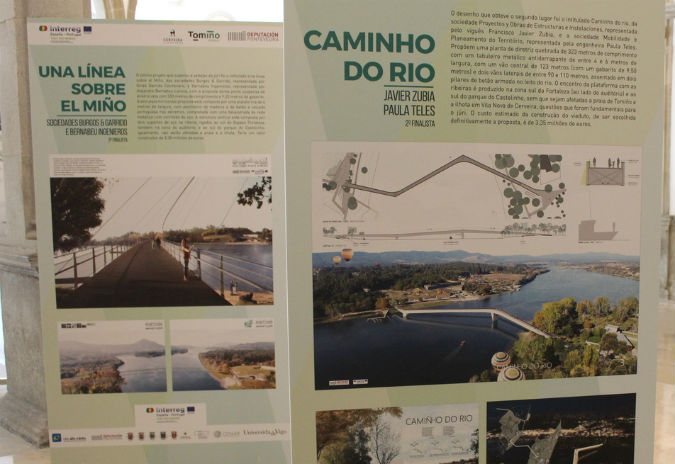 Projetos para construção da ponte pedonal e ciclável Cerveira-Tomiño expostos na Biblioteca Municipal