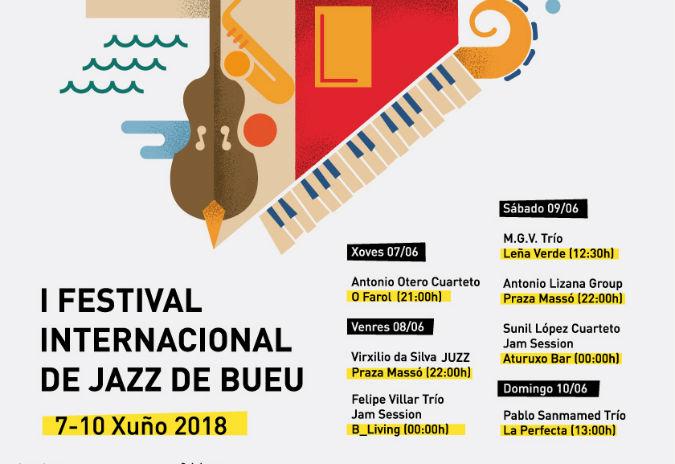 Bueu impulsa o I Festival Internacional de Jazz do 7 ao 10 de Xuño