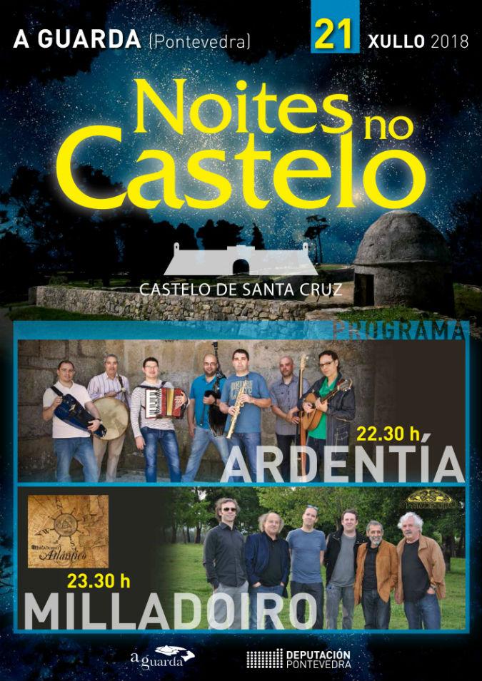 Ardentía e Milladoiro actúan na Guarda en «Noites no Castelo»