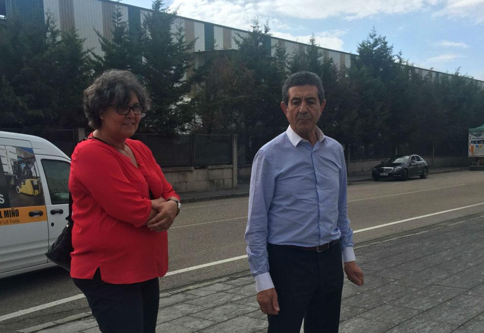 A Alcaldesa do Porriño comprométese cos empresarios de A Granxa á realización de melloras no polígono
