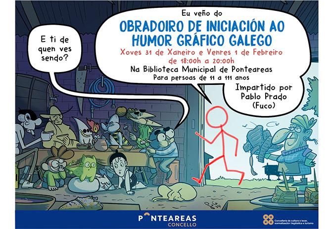 Orixinal obradoiro de iniciación ao humor gráfico galego na biblioteca municipal