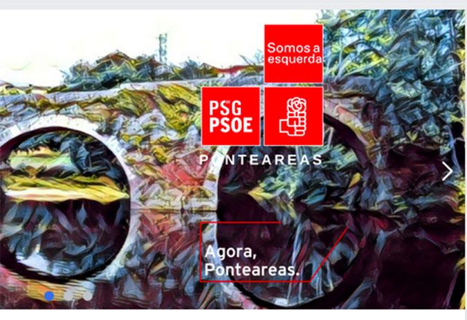 O PSOE de Ponteareas insta ao PP cambiar o seu lema de campaña por plaxio