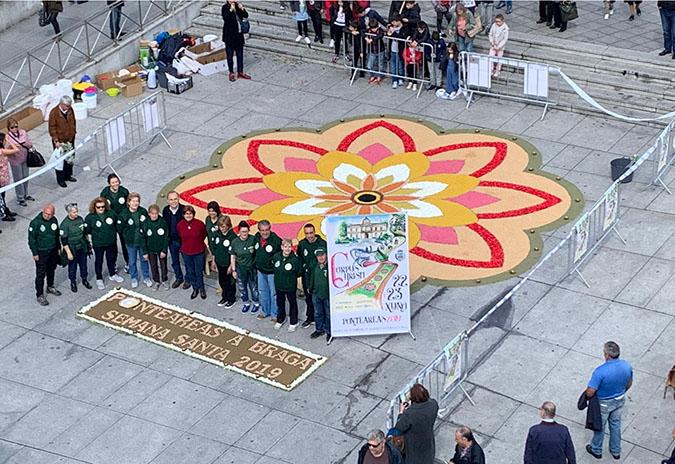A arte floral de Ponteareas luce na cidade lusa de Braga