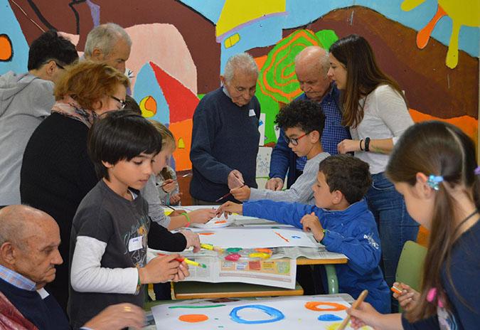 Escolares do CEIP de Barrantes (Tomiño) e persoas maiores afondan na xestión das súas emocións