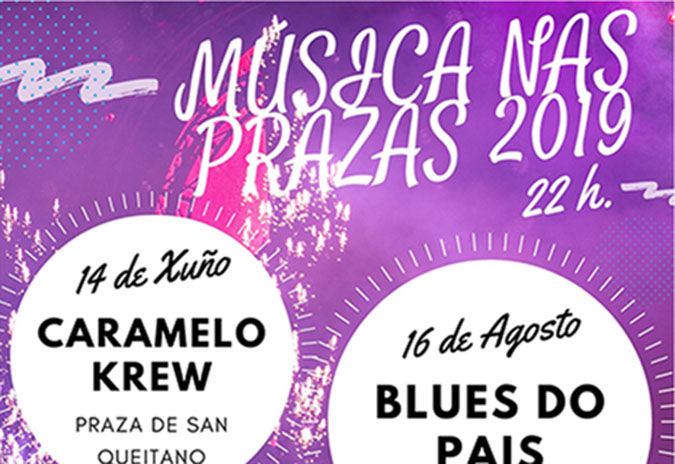 Tres concertos conforman o Música nas Prazas 2019 na Guarda
