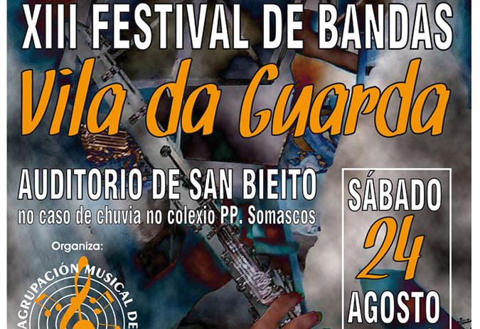 Este sábado celébrase o XIII Festival de Bandas de Música «Vila da Guarda»