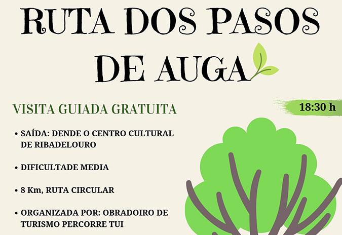 Visita guiada gratuíta á Ruta dos Pasos de Auga en Ribadelouro