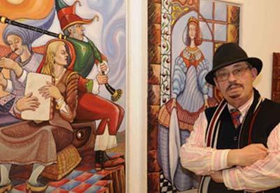 "O artista lucense José María Lugilde expón en Madrid a mostra ""Konfiguracions Kármicas Lugildianas"""