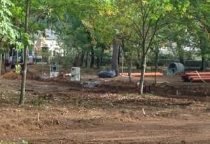 As obras do Parque urbano forestal de Ponteareas continúan a bo ritmo
