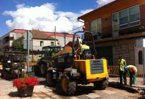 Comezan as obras de Gas Natural e fibra óptica de R nas rúas da vila
