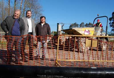 Comezan as obras do Gaseoducto de Gas Natural Salceda-Salvaterra que vai a dar servizo ao casco urbano da Esfarrapada.