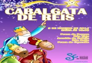 Melchor, Gaspar e Baltasar chegan a Salceda