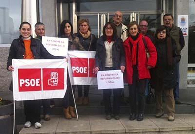 Os socialistas de Salceda concéntranse en contra da Reforma Local