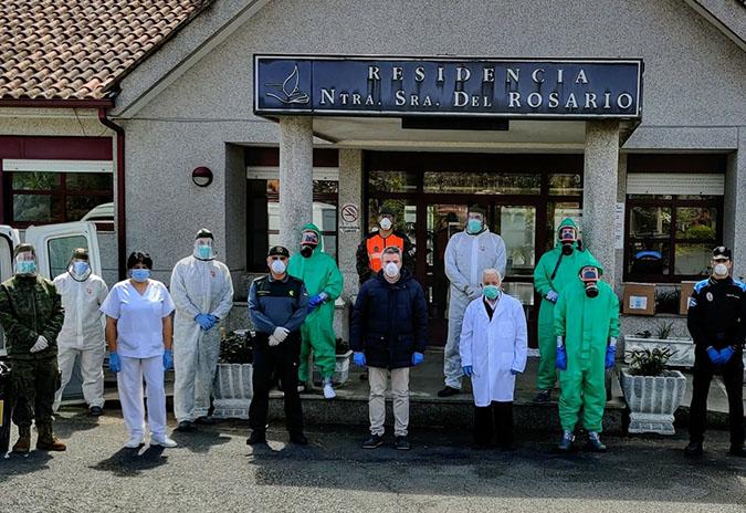 Os equipos de descontaminación do exército de terra despréganse de novo na Cañiza