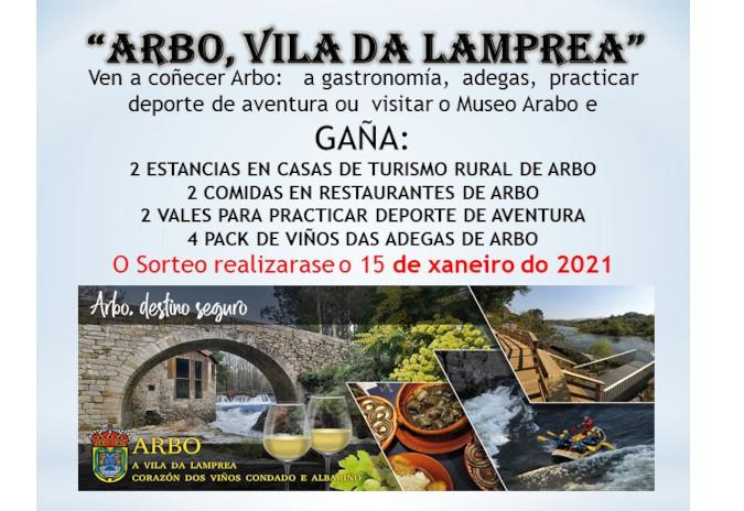 """Arbo organiza o concurso """"Visita Arbo e gaña"""" para promocionar os seus recursos turísticos"""