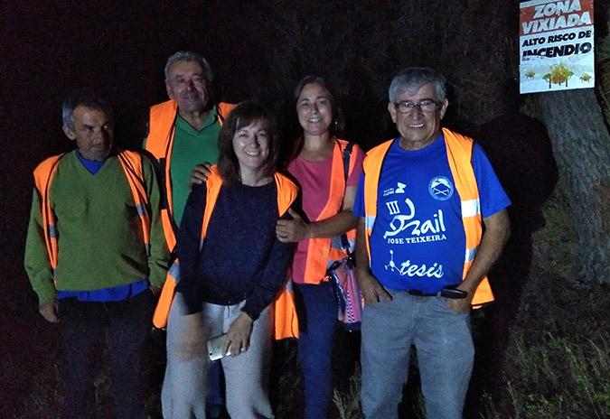 Os comuneiros da Picaraña de Ponteareas vixían o monte ante o risco de lumes