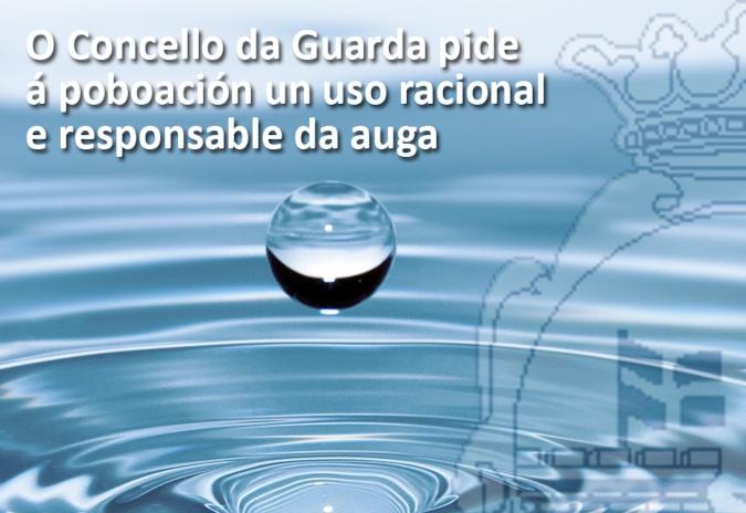 O Concello da Guarda pide á poboación un uso racional e responsable da auga