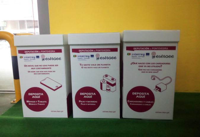 A Guarda instala na Praza de Abastos colectores para residuos de aparellos eléctricos e electrónicos
