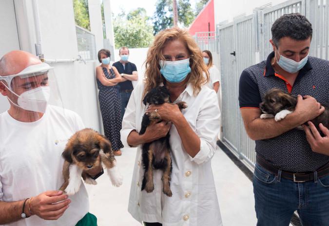 Carmela Silva inaugurou as obras de mellora no Centro de Acollida e Protección de Animais