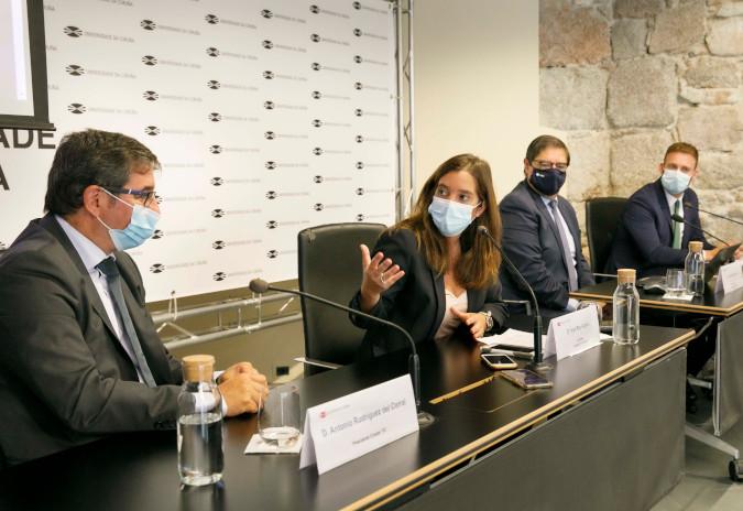 """Inés Rey: """"Apostamos pola economía 4.0 e pola a creación de emprego na Coruña"""""""