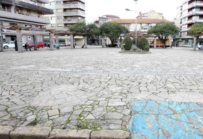 As obras de humanización da Praza de Bugallal inícianse este luns en Ponteareas