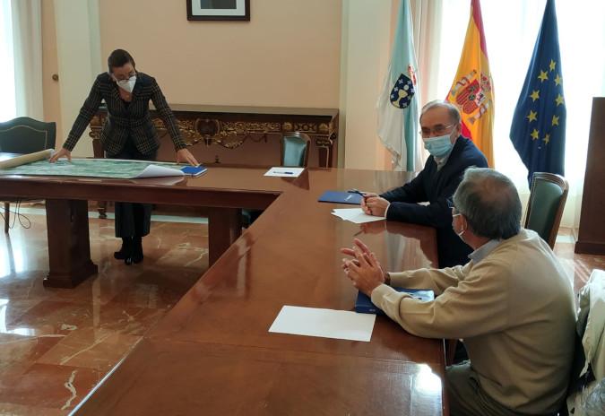 Pontereas coñeceu hoxe o proxecto de trazado da N-120 ao seu paso por Xinzo, Areas e Arnoso