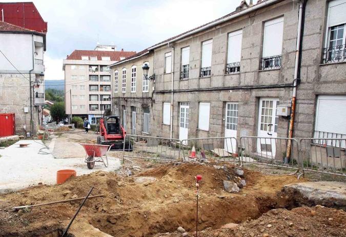 Ponteareas retoma as obras de reurbanización do primeiro tramo da rúa San Roque