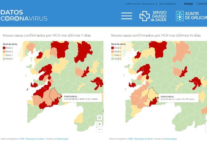 Ponteareas apela á responsabilidade ante o aumento da incidencia da COVID-19 na localidade