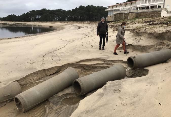 Alcalde da Guarda urxe actuacións para evitar deterioro do litoral do río Miño