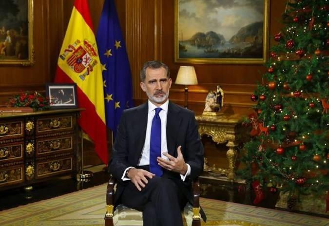 Felipe VI elude no seu discurso toda referencia ao rei emérito
