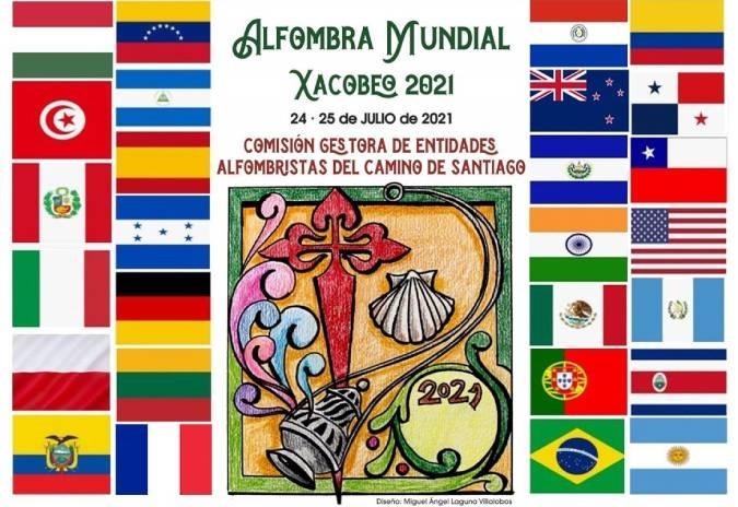 A Orde do Camiño de Santiago presenta o bosquexo oficial da Alfombra do Xacobeo 2021