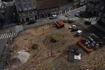 Reordenamento do tráfico polas obras na Praza de Bugallal en Ponteareas