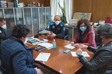 O Porriño e a Policía Local acordan protocolos coa hostalería para cumprir as restricións