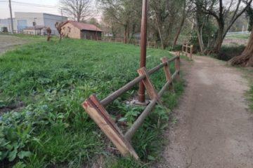 SOMOS Ribadumia denuncia o deterioro dos paseos fluviais do Concello