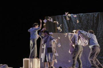 "Sarabela Teatro representou ""A lingua das bolboretas"" en Monforte"