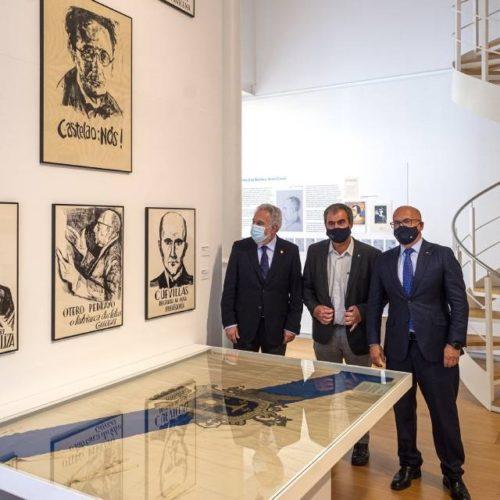 """O presidente do Parlamento de Galicia visita en Ourense a exposición """"Galicia, de Nos a nós"""""""