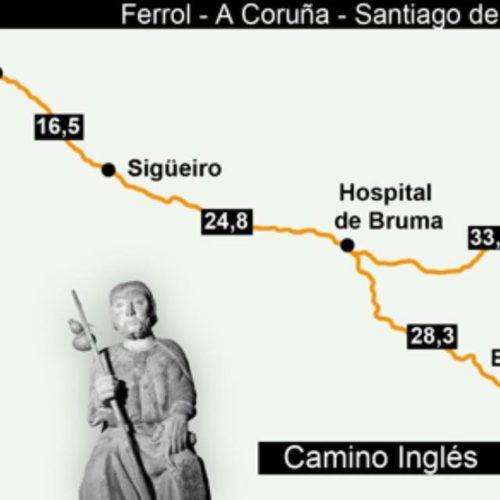 Deputación da Coruña apoia a iniciativa para que o Camiño Inglés sexa declarado Patrimonio da Humanidade pola Unesco